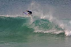 Surfer had optimal conditions in Plettenberg Bay.